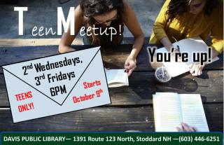 Dear Teens of Stoddard, Come hang  out with other teens and help plan fun montly activities for teens that YOU want to  make hap