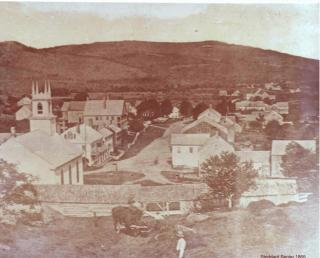 One of the EarliestPhotos of the Town Center, 1861
